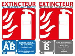 Panneaux signalétique incendie